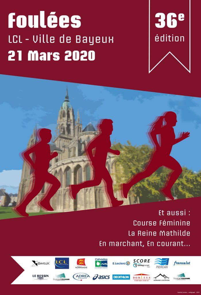 Foulées de Bayeux Affiche verticale art & graph