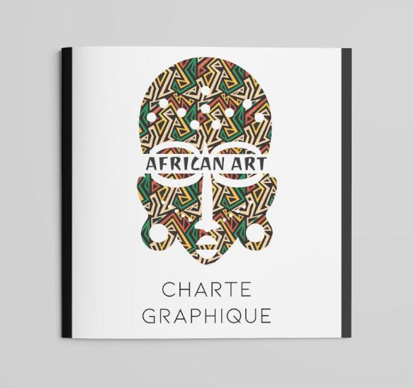 Charte graphique - African Art 110 x 110 mm art & graph