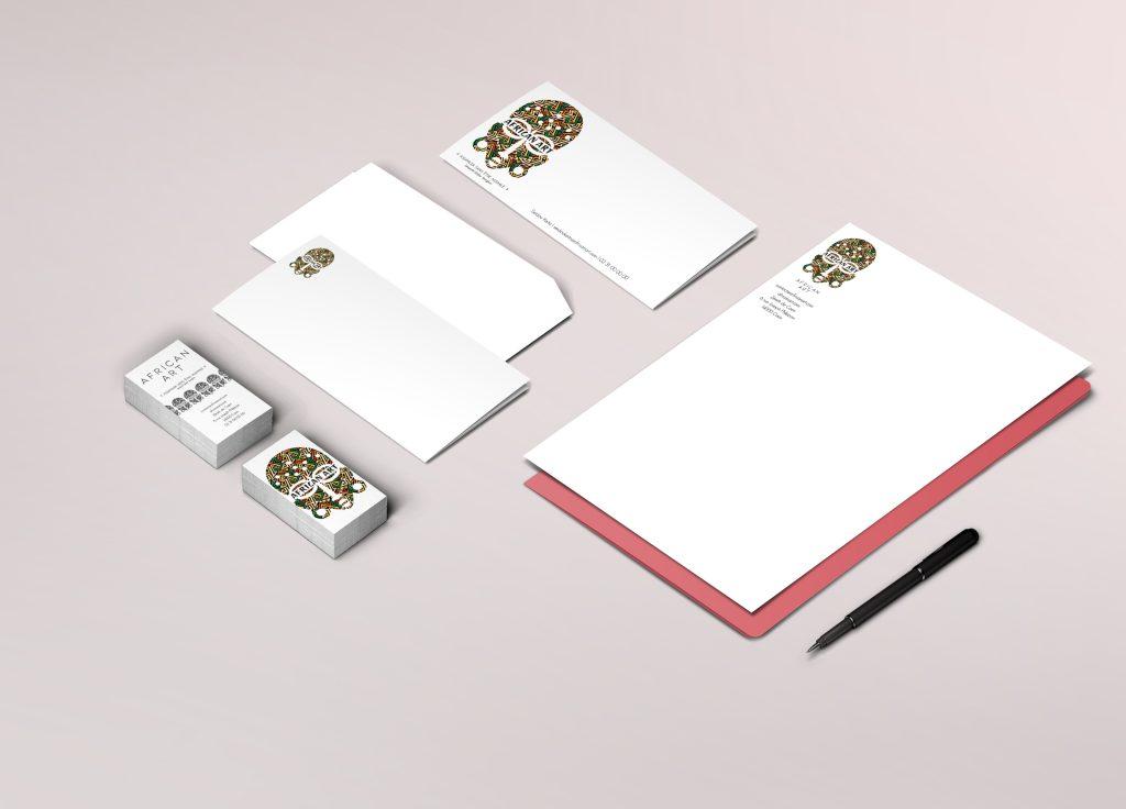 Papeterie - African Art Cartes de visite Cartes de correspondance Enveloppes Têtes de lettres