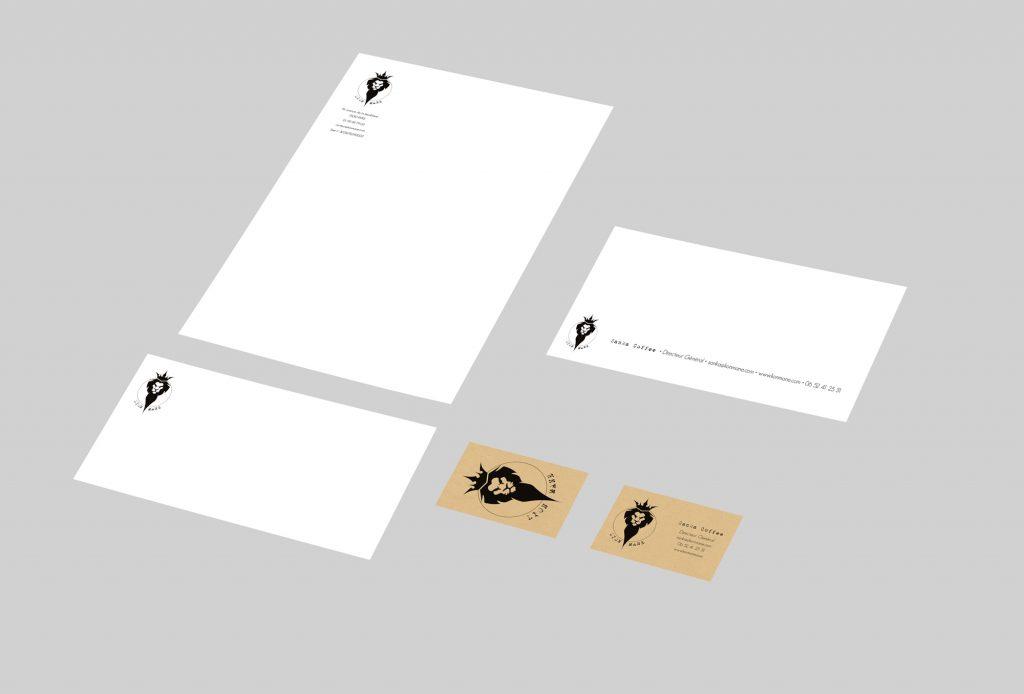 Papeterie - Lion Mane Cartes de visite Cartes de correspondance Enveloppes Têtes de lettres