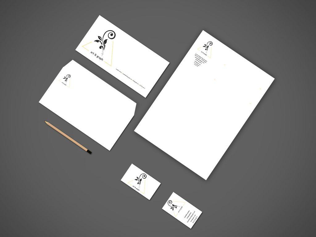 Papeterie - art & graph Cartes de visite Cartes de correspondance Enveloppes Têtes de lettres