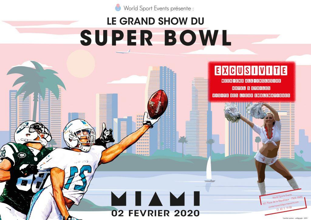 Agence de voyage Affiche horizontale - Superbowl art & graph
